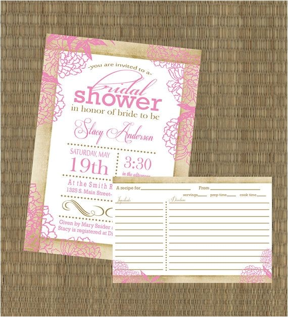 bridal shower invitations and matching