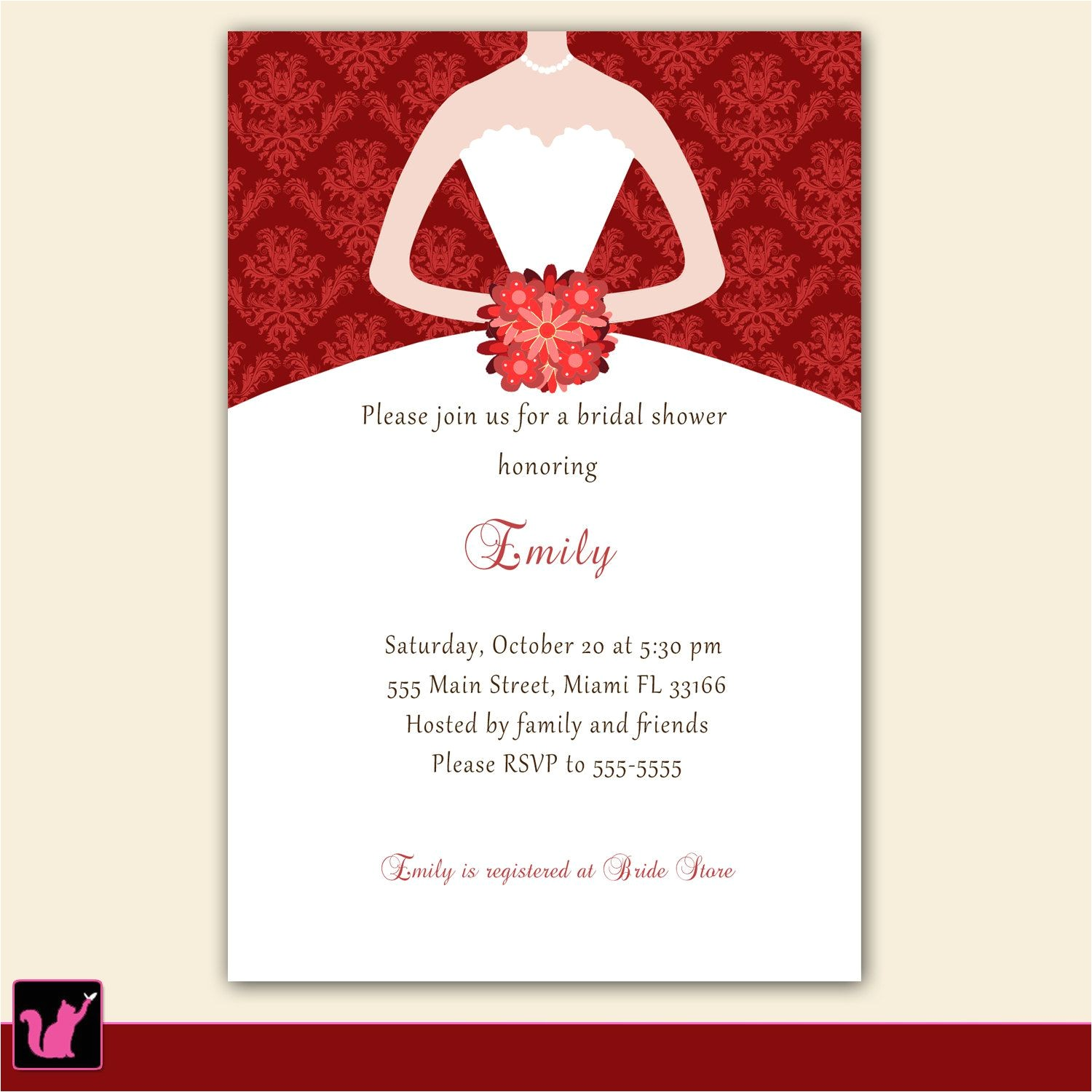bridal shower invitations samples