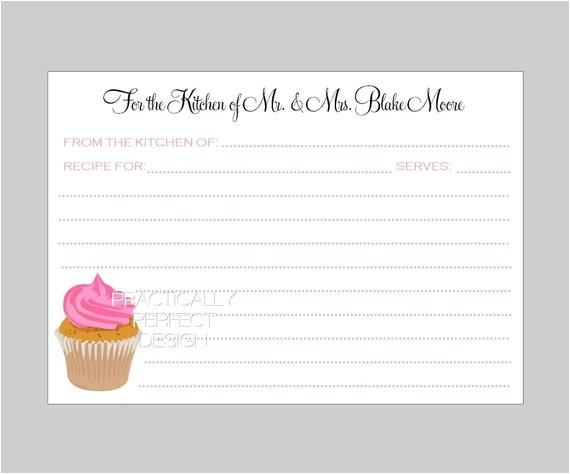 my bridal shower invitation and recipe card