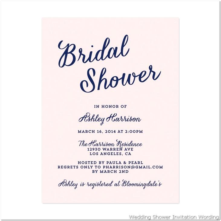 Bridal Shower Invite Examples Bridal Shower Invitation Wording