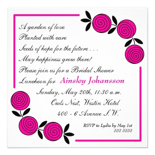 bridal shower invitations rhymes