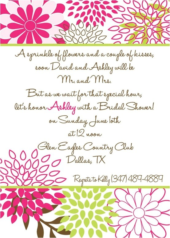 bridal shower invite cute poem