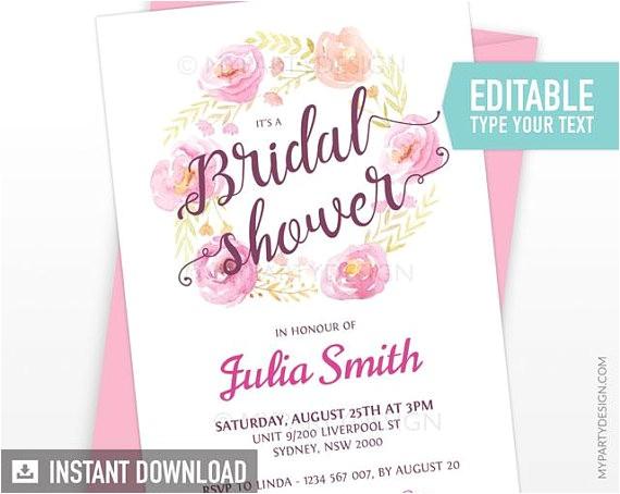 bridal shower invitation floral engagement invite 3
