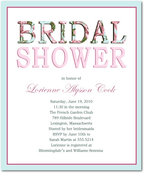 classic but fashion text bridal shower invitations hpb103 p 535