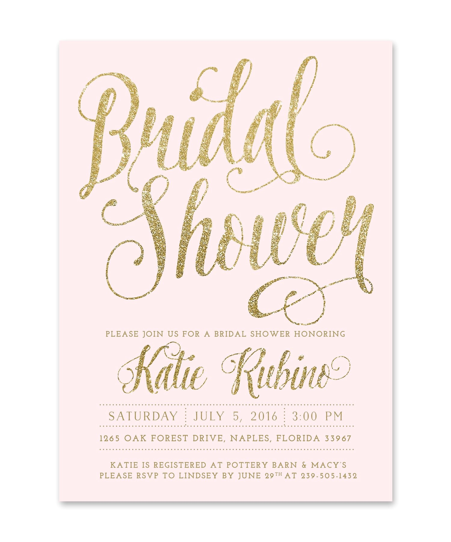 text for bridal shower invitation