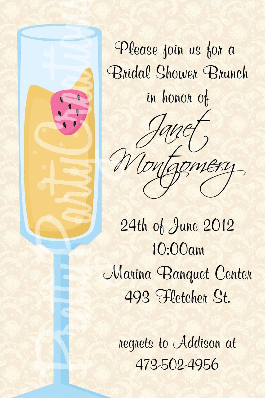 bridal shower invitations for brunch