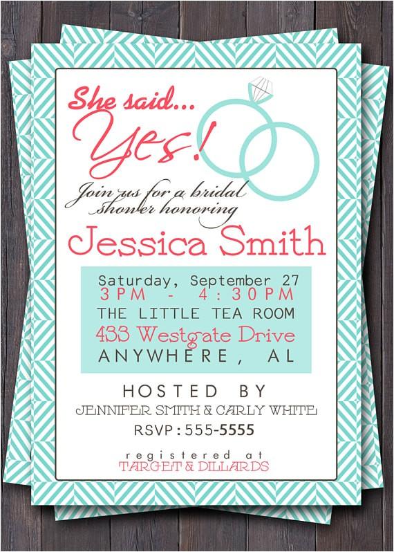 wedding shower invitationinvite bridal