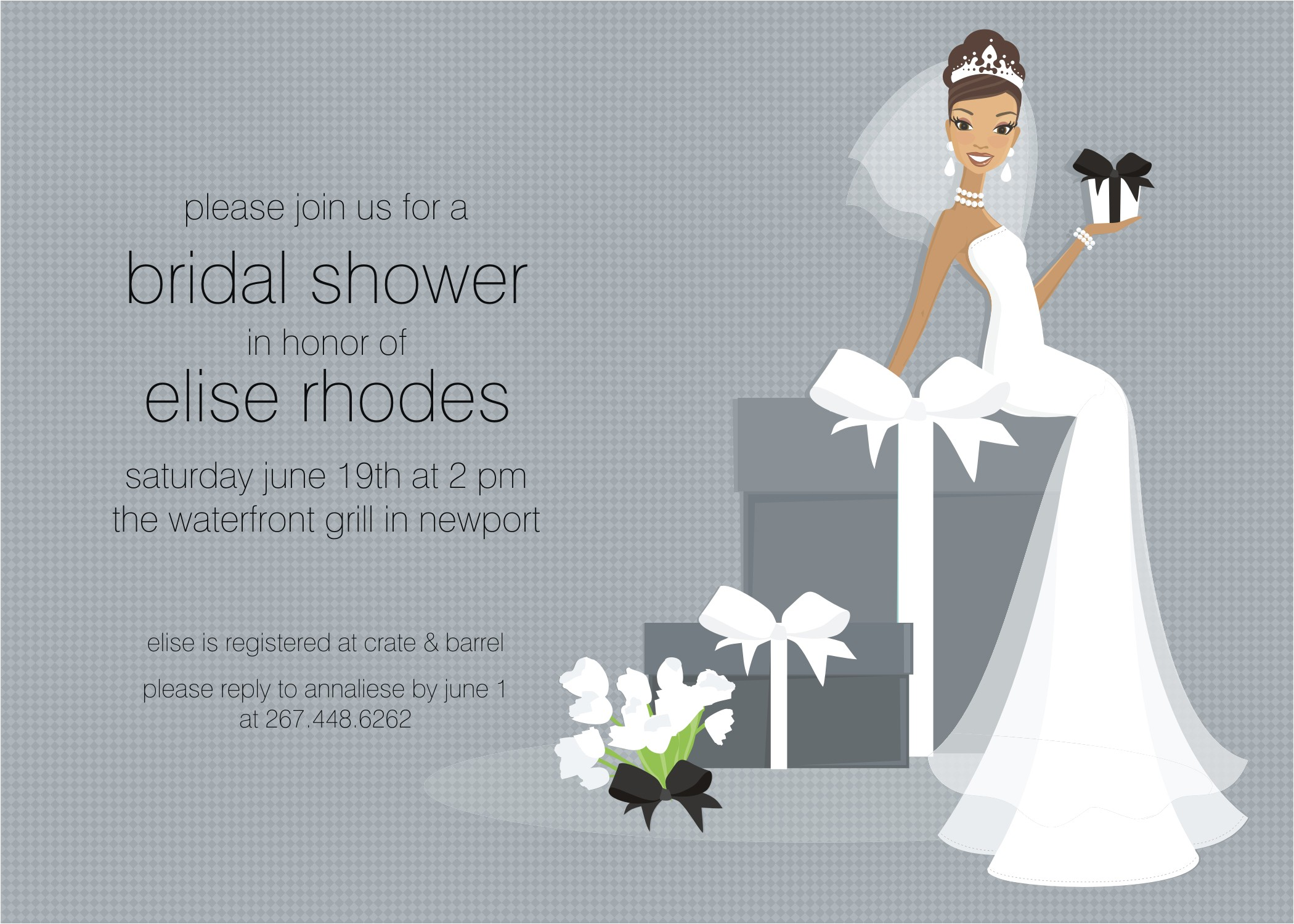 bridal shower postcard invitations free