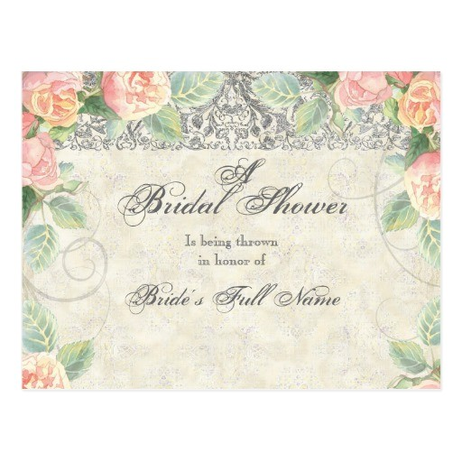 bridal shower invitations postcard