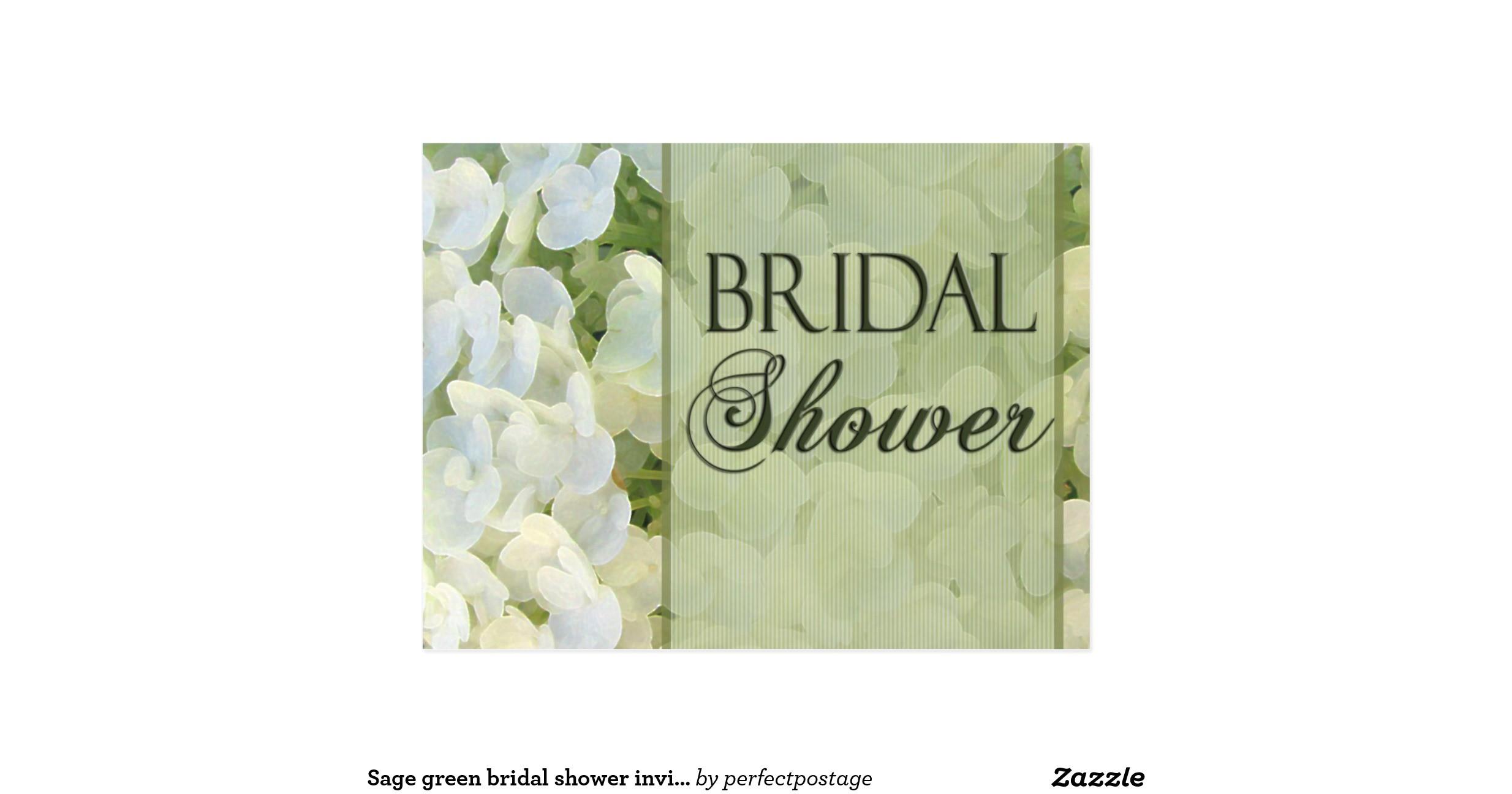 sage green bridal shower invitations postcard