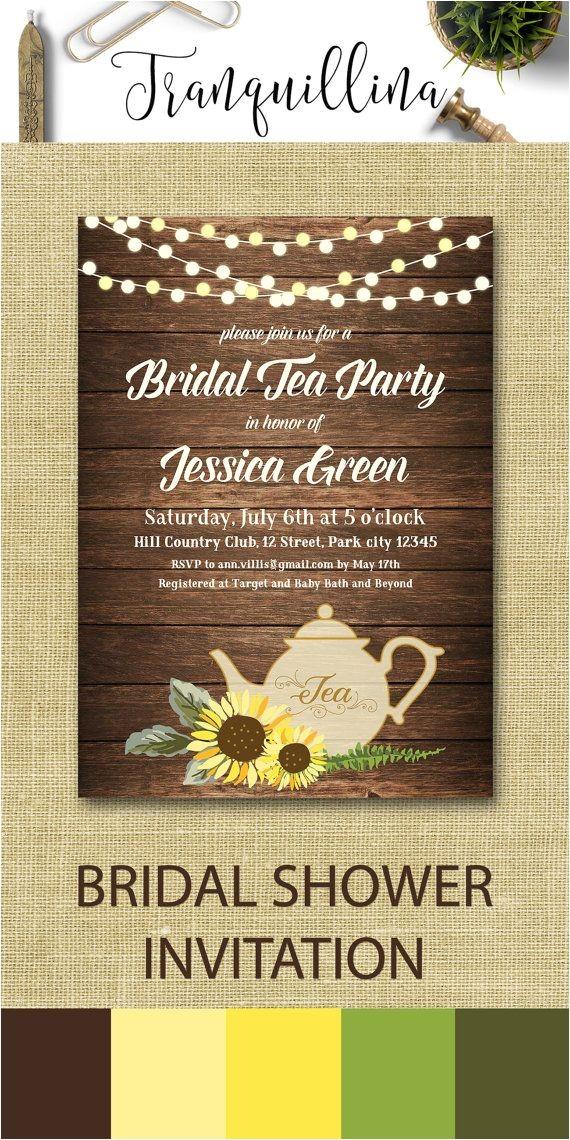 rustic tea party