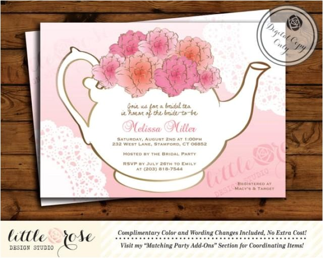 bridal tea party invitation bridal shower invite baby shower tea party high tea afternoon tea birthday tea party printable