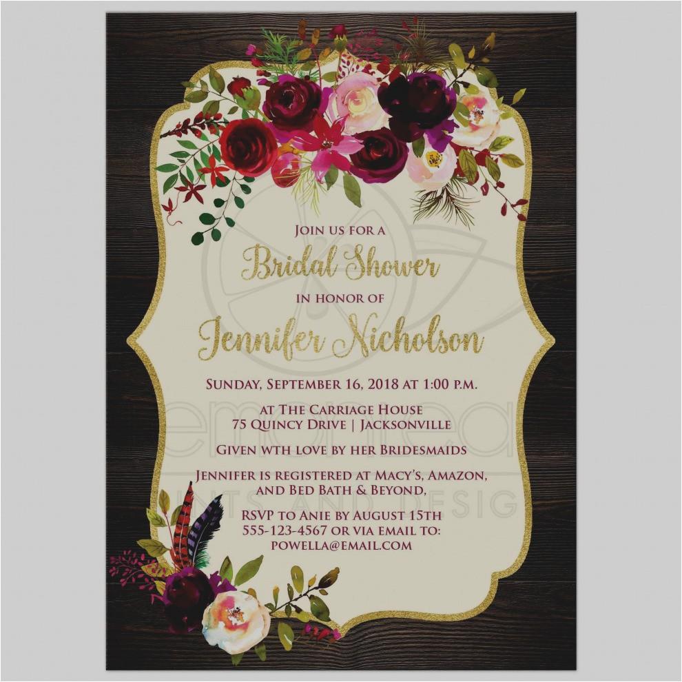 bridesmaids movie bridal shower invitation