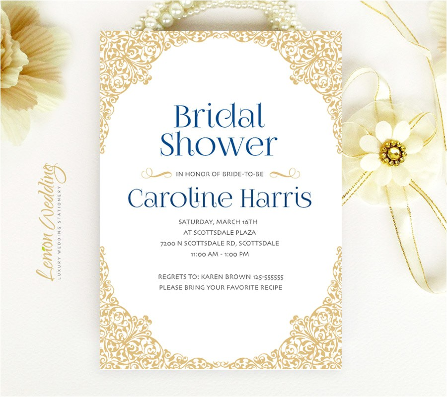 elegant bridal shower invitations cheap