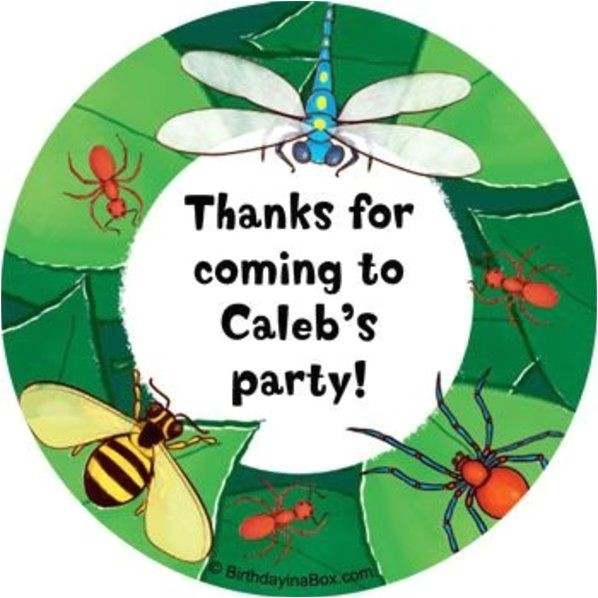 bugs personalized stickers sheet of 12