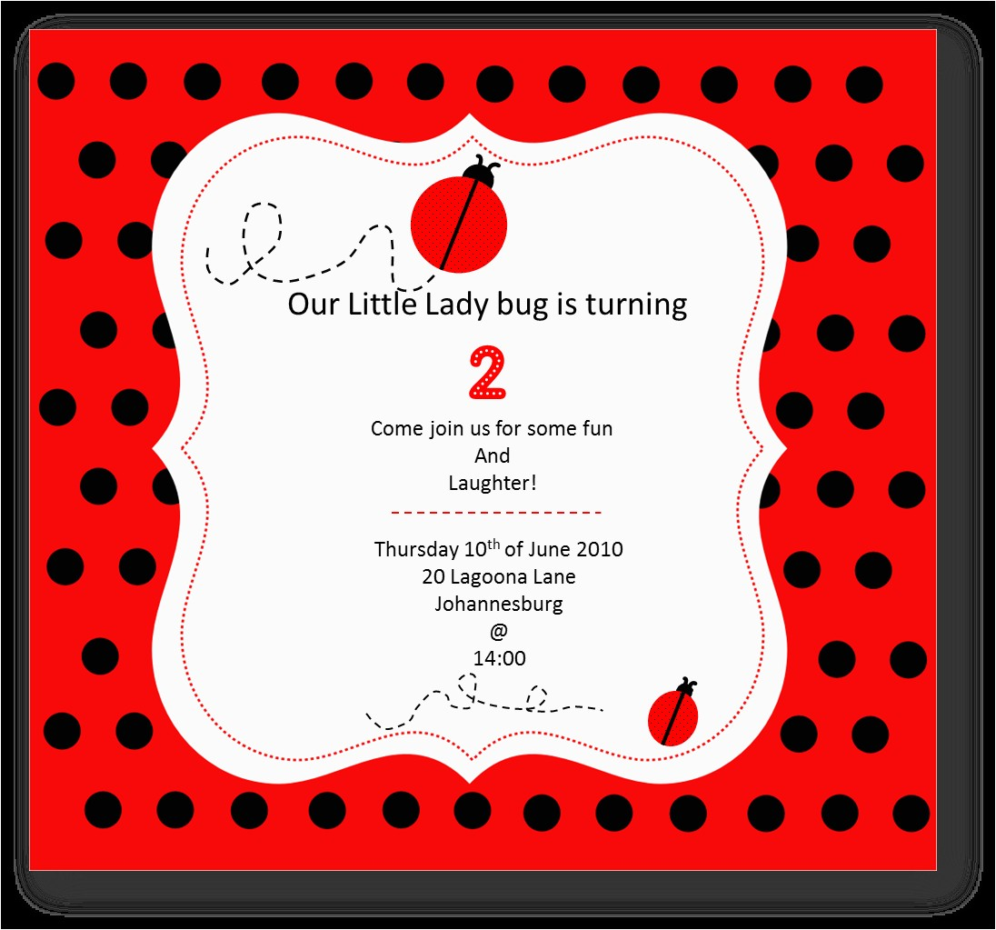 little lady bug inspiration