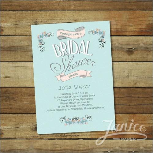 wholesale romantic mint bridal shower invitations wfbs019 p 158