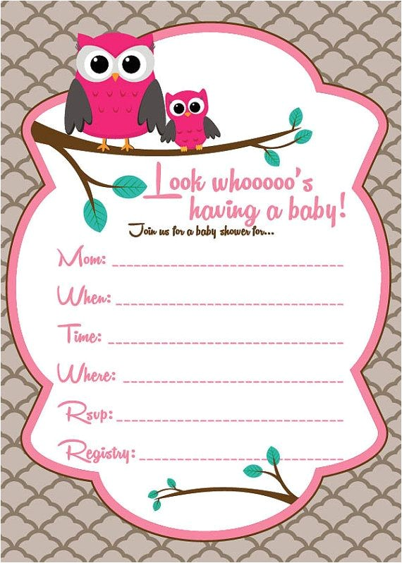 bulk owl baby shower invitations