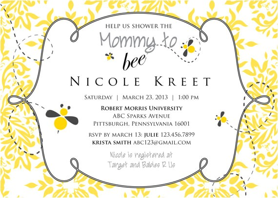 mommy to bee baby shower invitations printable