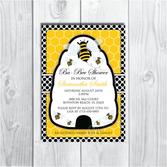 bumble bee baby showerbirthday