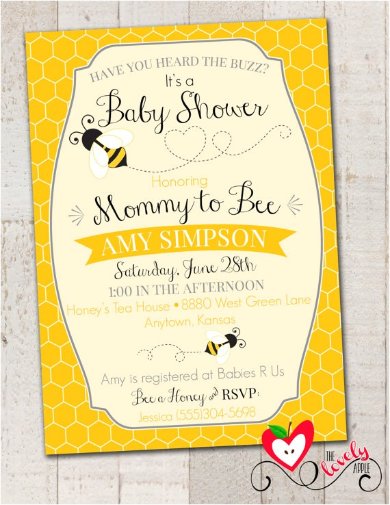 bumble bee baby shower invitation printable 9