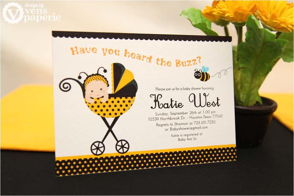 diy printable invitation card bumble bee