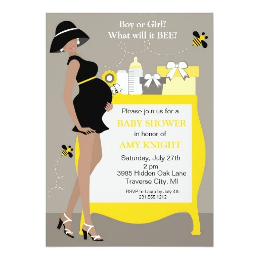 bumble bee baby shower invitations african ameri