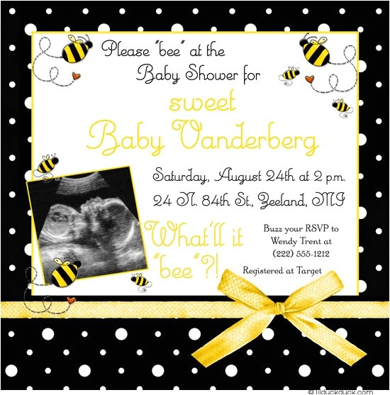 bumblebee baby shower invitation