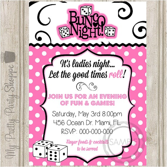 bunco night la s night party