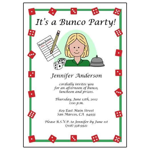 bunco party invitations