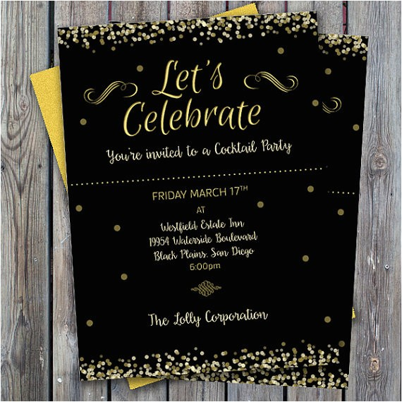 cocktail party invitation printable