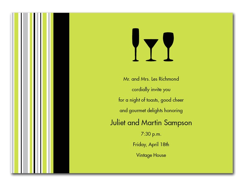 Business Cocktail Party Invitations Volunteer Customer Appreciation Invitation Consultants