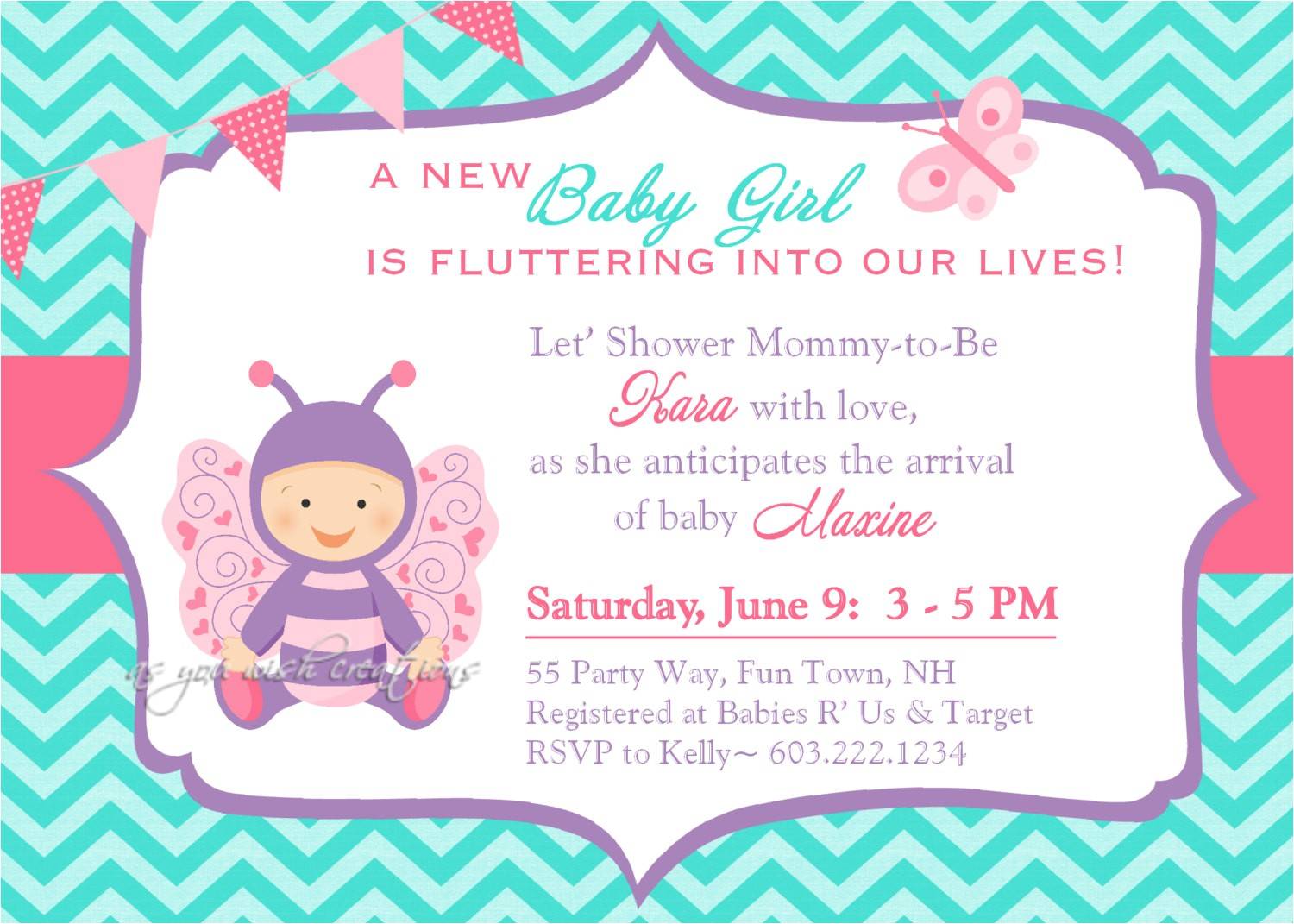 butterfly baby shower invitations printable free