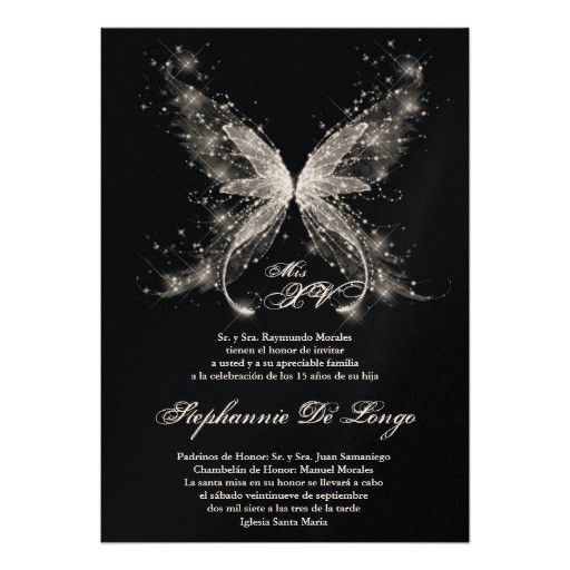 5x7 butterfly quinceanera birthday invitation 161592612746471820