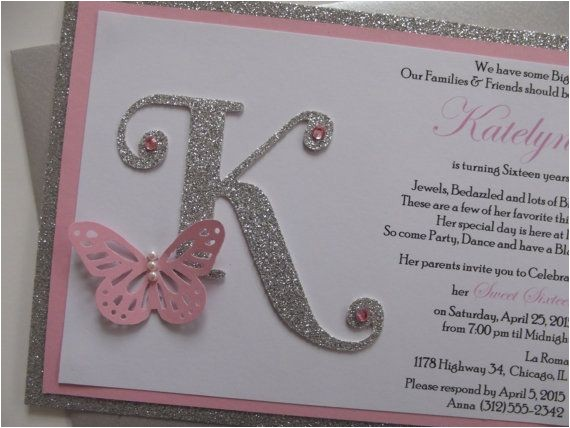 Butterfly themed Quinceanera Invitations Best 25 Sweet 16 Invitations Ideas On Pinterest Pink