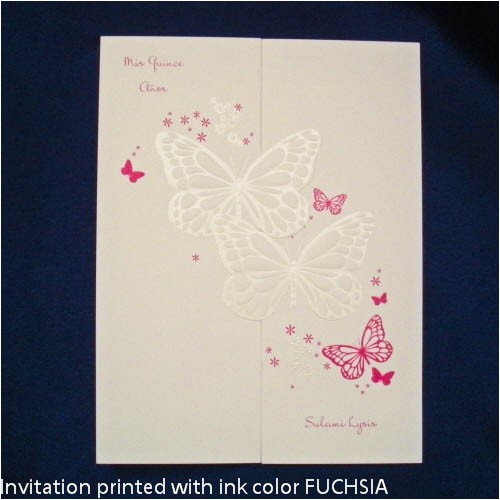 quinceanera invitations quince invitation samples butterfly wishes invitation sample p 372