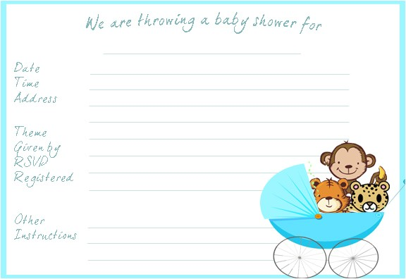 free printable for your baby shower invitations