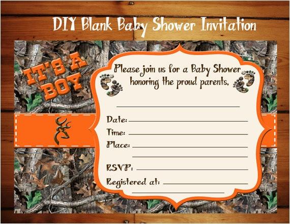 diy blank its a boy camo baby shower