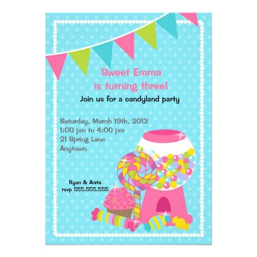 candyland invitations