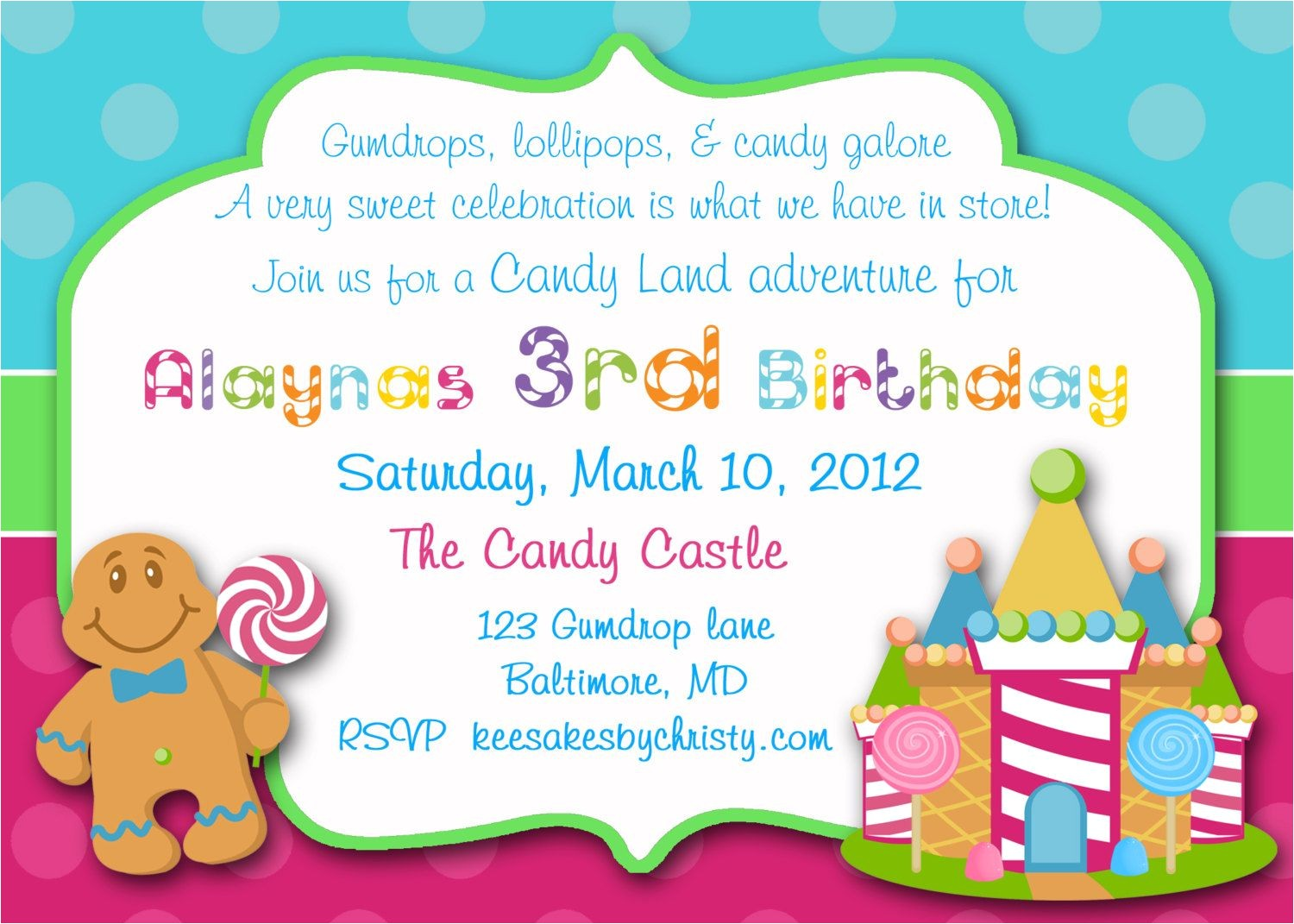 Candyland Birthday Invitation Wording Candyland Invitations Sweet Shop Invitations Sweet Shop