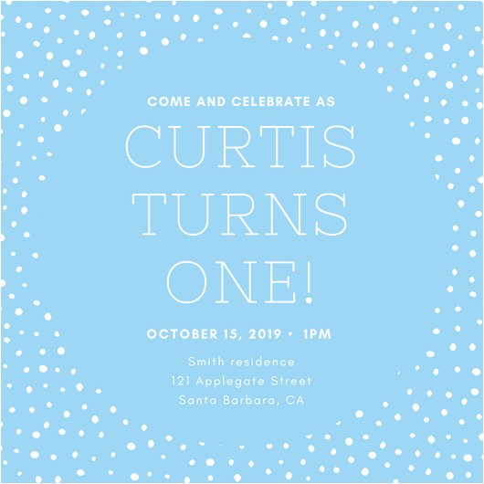 Canva 1st Birthday Invite 1st Birthday Invitation Templates Canva