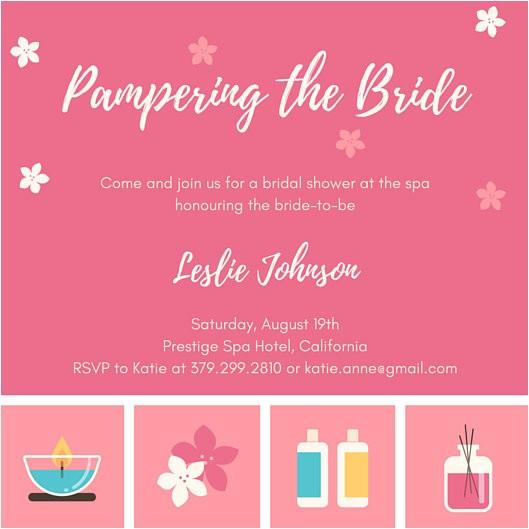 Canva Bridal Shower Invitations Bridal Shower Invitation Templates Canva