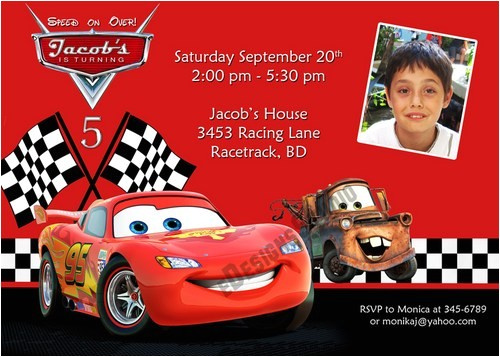 cars birthday invitations free 2