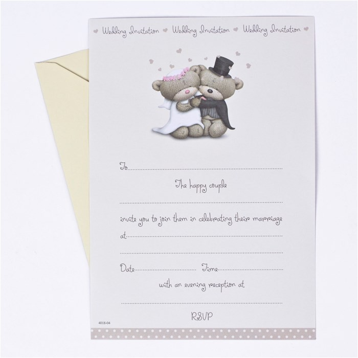 hugs off white wedding invitations pack of 20
