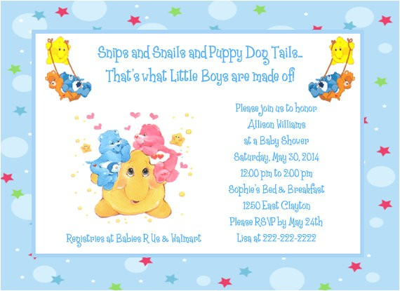 care bears moon and stars baby shower