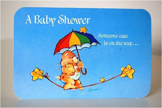 vintage care bear rainbow baby shower