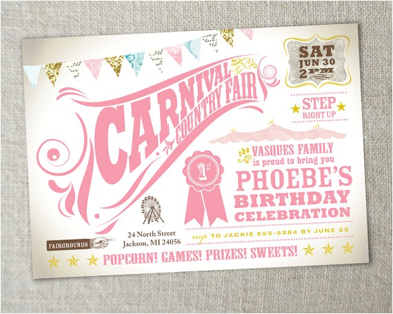 kids birthday party carnival birthday