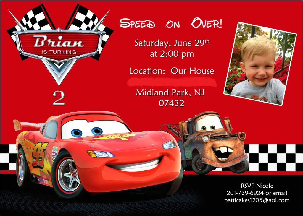 disney cars birthday invitations by means of creating easy on the eye outlooks around your birthday invitation templates 5