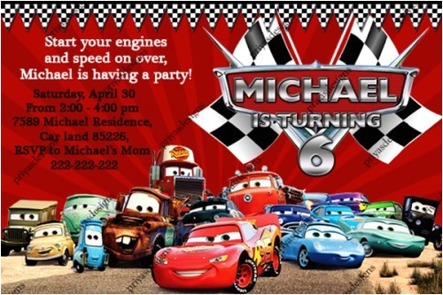 disney cars birthday invitations
