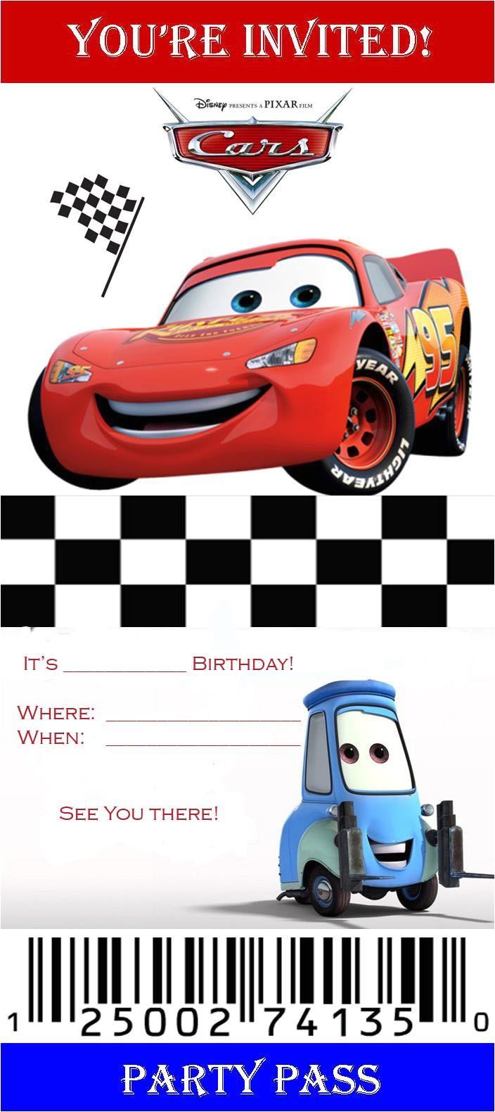 cars 2 birthday invitation templates